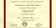 dr Arkadiusz Kuna - Certificate - Beauty Group - Artplastica