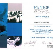 Beauty Group - Artplastica -Dr Mateusz Zachara - certificates