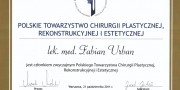 Beauty Group - dr Fabian Urban - certificate