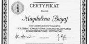 Certificate - Magdalena Bugaj