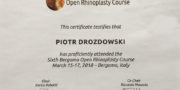 Certyficate - Piotr Drozdowski
