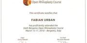 Fabian Urban - Certificate - Bergamo 2018