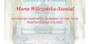 Beauty Group - dr Marta Wilczyńska Staniul - certificate